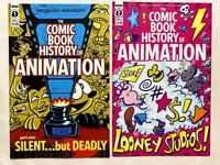 COMIC BOOK HISTORY OF ANIMATION #1 & #2 LOT SET RUN 2020 IDW FIRST PRINT NM