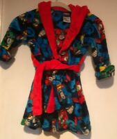 Boys Size 4T Thomas the Train Holiday Christmas Robe w// Toy Whistle Red Fleece