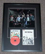 One Direction Group Signed Framed 19x25 Yearbook & Up All Night CD Display