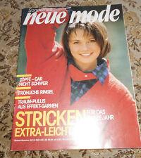 Neue Mode Sonderheft von 1987 Stricken  Strickheft Handarbeitsheft