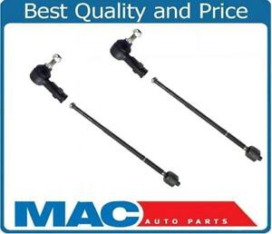 Fits For 08-2013 Smart ForTwo (2) Front Inner & Outer Tie Rods 4Pc Kit