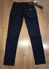 "AJ Armani Jeans Mens Dark Navy Blue 34"" Waist 32"" Leg New BNWT Free P&P J45"