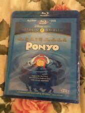 Ponyo (Blu-ray/DVD, 2010, 2-Disc Set) NEW