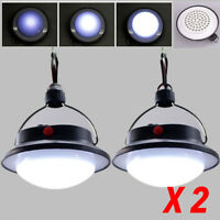2pcs 60 LED Hängelampe Camping Laterne Lampe Licht Zelt Leuchte Gartenleuchte