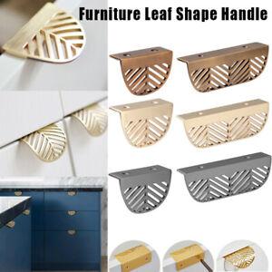 Leaf Shape Furniture Handle Drawer Pull Kitchen Cabinet Wardrobe Door Knob Decor