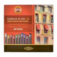 Koh-I-Noor Toison D'Or Assorted Colour Soft Pastels in Sets of 12, 24, 36 & 48