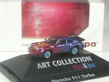 Class: Herpa Art Collection Porsche 911 Turbo Fire & Ice in PC-OVP
