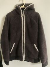 The North Face Womens Brown Monkey Sherpa Fleece hooded Jacket, sz XL