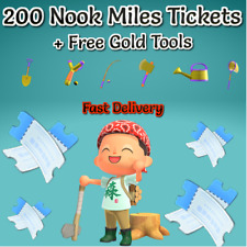 ANIMAL CROSSING NEW HORIZON 🎫 200 Nook Miles Tickets + Gold Tools 🎫 CHEAPEST