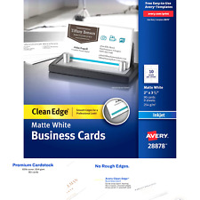 Avery Printable Business Cards Inkjet Printers 90 Cards 2 X 35 Clean Edg