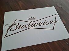 A4 BUDWEISER Beer Logo Bar Text Stencil High Detailed Airbrush Whiskey Barrel