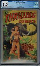 CGC 5.0 THRILLING COMICS #63 CLASSIC ALEX SCHOMBURG (XELA) AIRBRUSHED COVER 1947