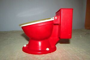 VINTAGE CLOCK a TOILET-SEAT VERY RARE CONDITION, RED COLOR
