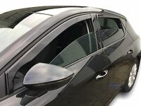 Seat Leon mk3  CUPRA / FR  2013- up wind deflectors 4pc set  TINTED HEKO