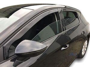 Seat Leon mk3  CUPRA / FR  2013 - 2020 wind deflectors 4pc set  TINTED HEKO