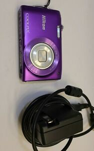 Used Nikon Coolpix S3300 Purple Digital Camera With Charger.