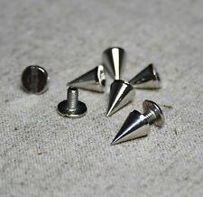 Remache de Metal picos, Punk conos, clavos, Rosca Trasera 14mm – envase de 10