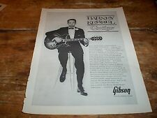 BARNEY KESSEL ( GIBSON GUITARS ) RARE Original 1962 U.S. Vintage magazine Ad NM