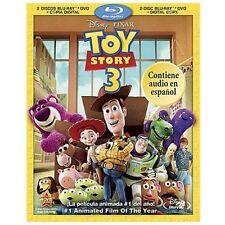 Toy Story 3 (Blu-ray+DVD+Digital Copy,* 2011; 4-Disc Set, Disney en Español) NEW