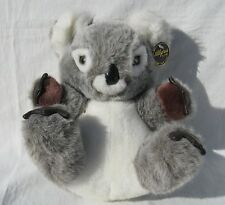 Alegria by Pmi Gray and White Koala Bear with Leather Paws Very Soft and Cute