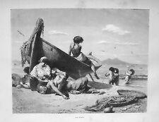 1877: NAPOLI, DOLCE FAR NIENTE, RIPOSO.SIESTA.CAMPANIA.Xilo o in Passepartout
