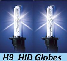 1 pr H9 HID Globes Bulbs 35W 55W 70W 12v 24v 4300K or 6000K or 8000K or 10000K