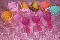 Num Noms Toy Lot of 12 Nums Noms 6 Spoon 2 Bowls Total 2 Waffle Cones