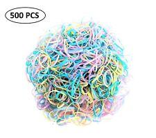 500pcs Mini Hair Elastic Rubber Bands Ties Braids Plaits Ponytail Holders w Case