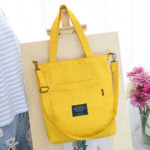 Large Women's Canvas Handbag Shoulder Messenger Bag Satchel Tote Zip Bag