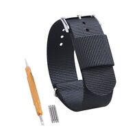 20mm Ballistic Nylon Military Dive One-Piece Watch Band Strap w/ Pin Change Kit