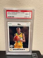 2007-08 Topps #2 KEVIN DURANT Seattle Supersonics RC Rookie Card PSA 10 Gem Mint
