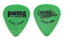 Pantera Dimebag Darrell Signature 101 Proof Green Guitar Pick - 1997 Tour