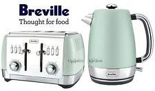 Kettle and Toaster Set Breville Strata Jug Kettle & 4 Slice Toaster Mint Green