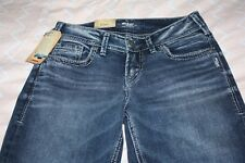 Women's Junior's Silver Jeans CO. Elyse Straight Mid Rise Jeans Size 25/32 NWT