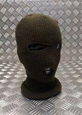 Da Uomo Donna Unisex Inverno Caldo Lavorato a Maglia singolo foro Foderato black face mask balaclava