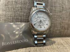 Michael Kors MK5165 Ladies Blair Chronograph Watch - Silver