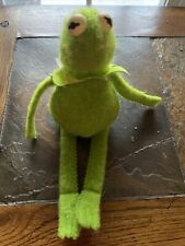 Vintage 1980 Kermit The Frog Muppet Sad Beanbag Plush Fisher Price Toy 864