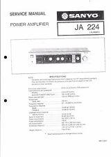 Sanyo Service Manual für JA 224