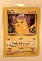 PIKACHU - Base Set - 58/102 - Pokemon Card - Unlimited Edition ,Top Mint! RARE!