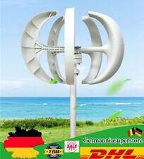 600W 5-Klingen Vertikale Wind Turbine Generator Windrad Windgenerator Laterne