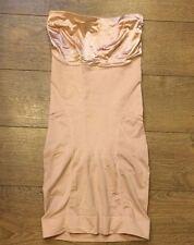 SPANX 1059 Slimmer & Shine Strapless Full Slip Rose Gold sz L Large NWOT