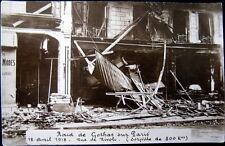 FRANCE~1918 PARIS~ RAID DE GOTHAS SUR PARIS ~ RUE DE RIVOLI ~ 300 kg BOMB~ RPPC