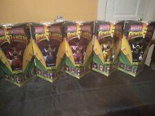"1993 MIGHTY MORPHIN POWER RANGERS BANDAI 8"" TOY FIGURE SET 5 ORIGINAL BOX"