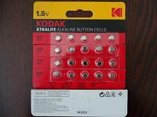 KODAK XTRALIFE LR60 LR621 AG1 364 1.5V Alkaline Button Cell Battery 20 Pck B1022