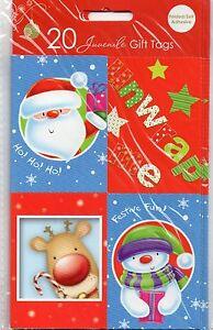 New Christmas Xmas Gift Tags Luxury Traditional Cute Juvenile Tie/Self Adhesive
