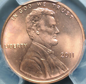 2011 LINCOLN SHIELD PENNY / CENT 1C Certified PCGS MS65 RD