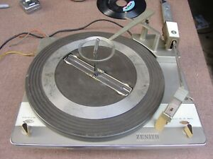Vintage 1964 Zenith Stereo Turntable from Tube Console Stereo