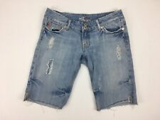 Miss Me Jean Shorts Distressed Destroyed Frayed Ripped Casual Wear 31x11 Size 28