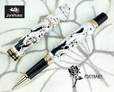 free ship JINHAO Rollerball pen Snake serial SILVER + 2 refills BLACK ink