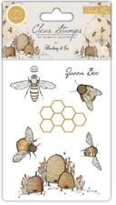 Tell the Bees Clear Stamp Set - Hackney & Co Stamps Beehive Queen Bee Honeycomb